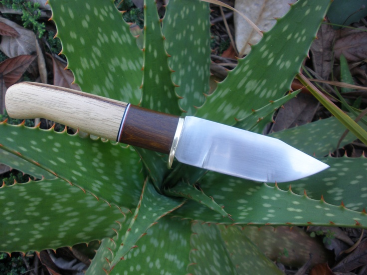 "RedEyedJack custom knives hunting knife. 1/8"" 1095 high carbon steel. 4"" full flat ground drop point blade. Hickory & Ipe handle with black, white, and red spacers. Brass guard. 8oz leather sheath. This knife is SOLD. Handmade in U.S.A. Find us on Facebook REJck RedEyedJack custom knives of Bonifay, Florida E-mail redeyedjackcustomknives@yahoo.com"