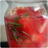 """Water Detox"" recipes - lemon/lime never tasted great for me, but  the strawberry/watermelon sounds amazing"