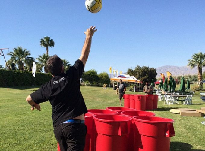 """Giant beer pong OR """"Bucket All"""" of playing with kids. Either way, this game is SO much fun!  Photo by Kroqslightning"""