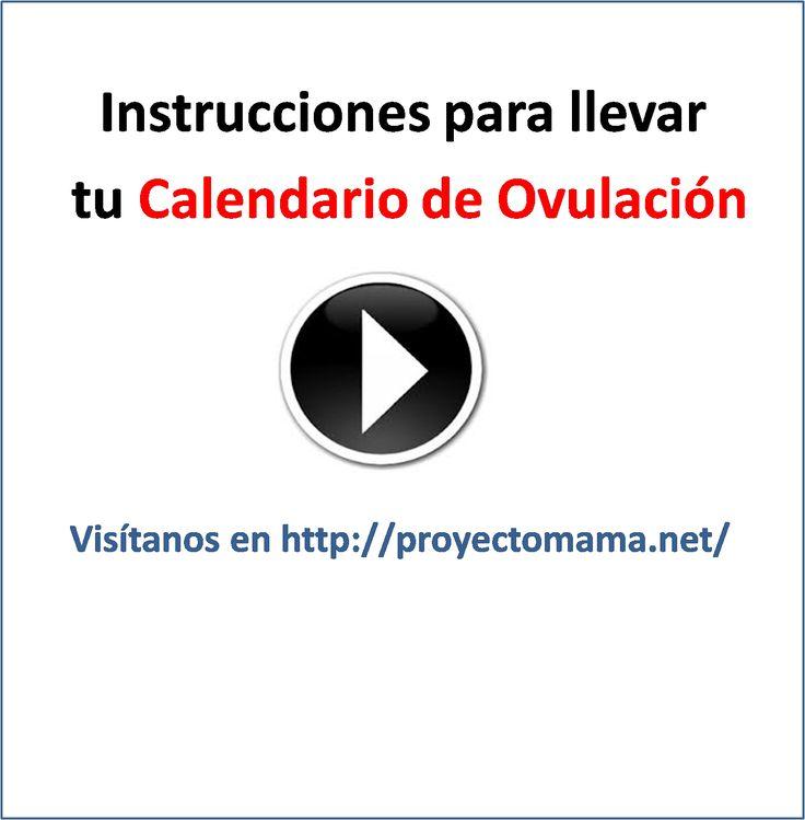Instrucciones sencillas para llevar un Calendario de Ovulación para calcular los días fértiles para quedar embarazada #fertilidad