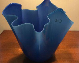 Vestito blu fazzoletto vase