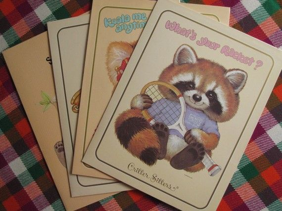Critter Sitter Folders. Always bought these from my school's stationery store.