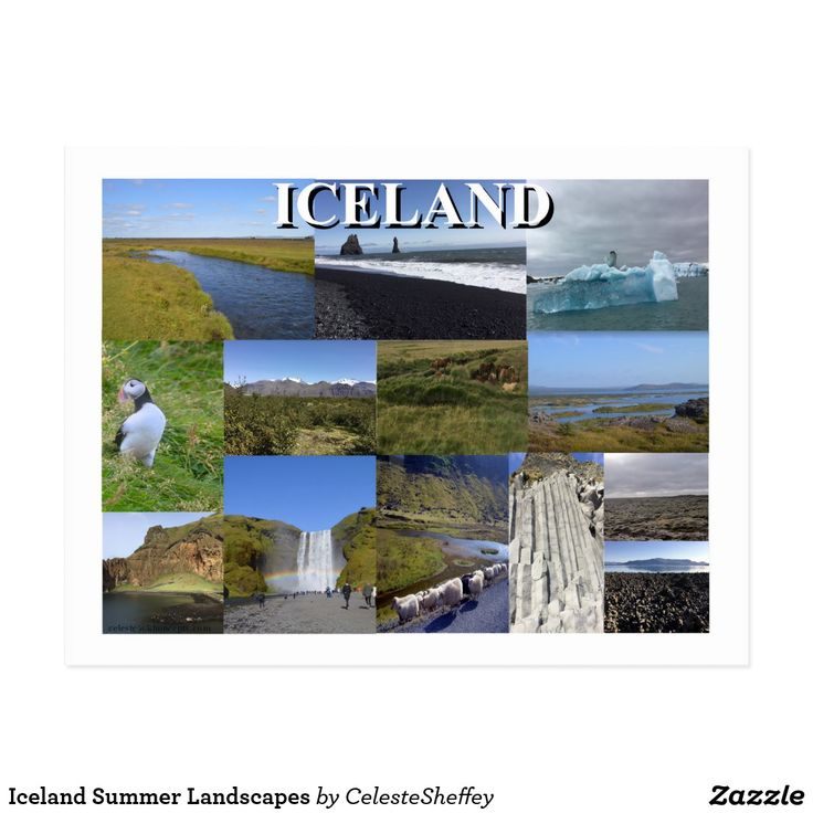 Iceland Summer Landscapes Postcard by CelesteSheffey (sold - United Kingdom) Thank you!