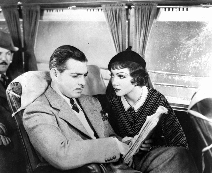 "Clark Gable and Claudette Colbert won their Oscar only Oscars for Frank Capra's Academy Award-winning romantic 1934 comedy ""It Happened One Night."" And here's a wonderful photo of this beloved film courtesy of AP."