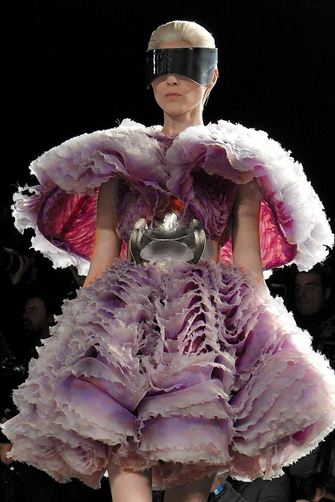 Have to give props to Sarah Burton for carrying on Alexander McQueen's design spirit and aesthetic after his death. These designs capture all of the mystery and magic of him. HUGE shoes to fill, but she's doing it. No small task. McQueen RTW Fall 2012 (WWD.com)