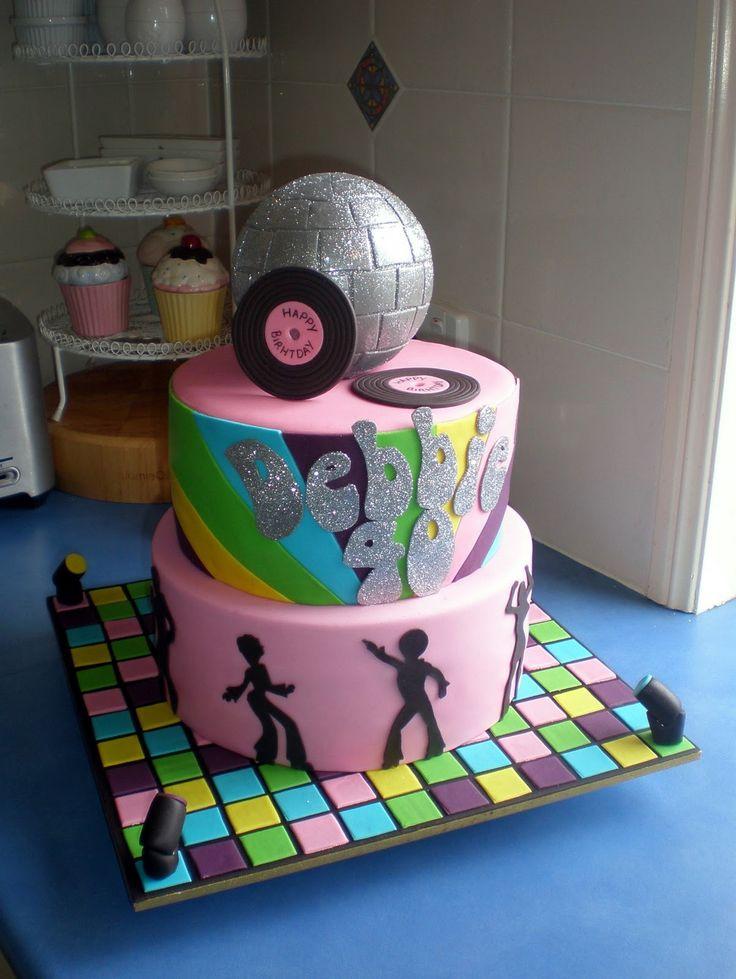 Sugar Siren Cakes 70's Disco Birthday Cake
