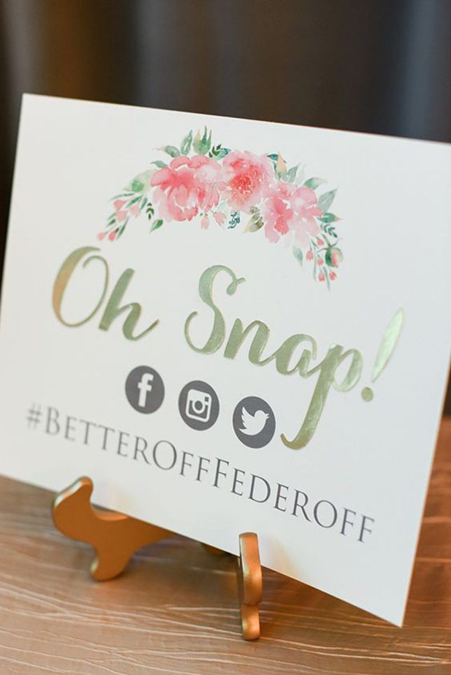 12 Suprisingly Pretty Social Media Signs to Use at Your Wedding via Brit + Co