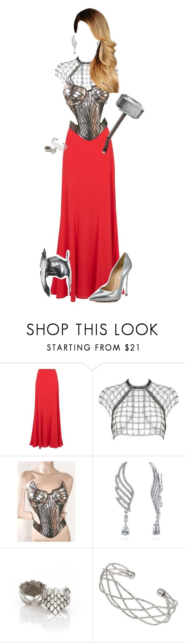 """Lady Thor"" by potterhead212 ❤ liked on Polyvore featuring Boutique Moschino, Fannie Schiavoni, BERRICLE, Ever Eden by Michelle Phan, Wallis and Casadei"
