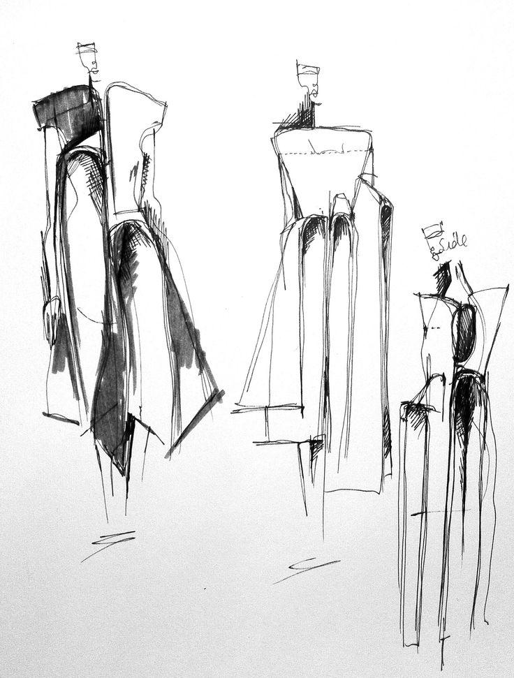 Fashion Sketchbook - fashion design drawings; dress sketches; fashion portfolio // Connie Blackaller