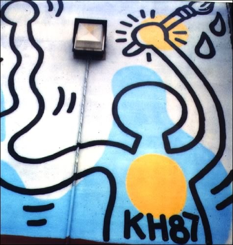 Carmine Street Mural by Keith Haring, 1987   detail