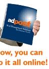 Adpost for printing and distribution.