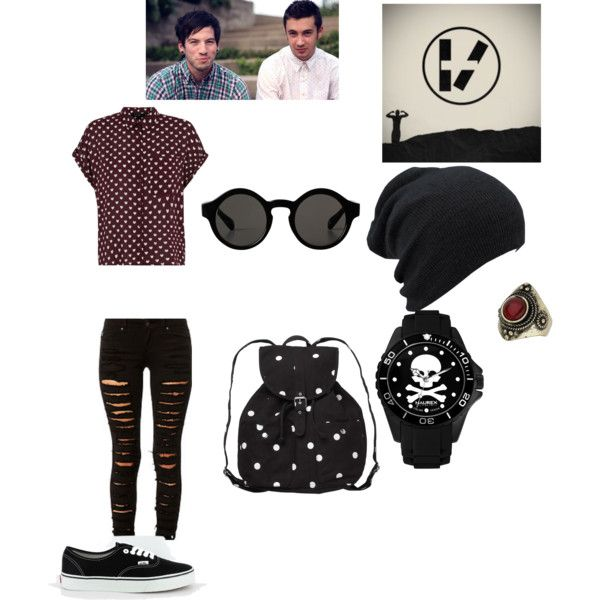 Twenty one pilots by macdebuscemi on Polyvore featuring polyvore, fashion, style, Vans, Monki, Haurex, Topshop and Twenty