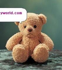 Molde para hacer un oso de peluche