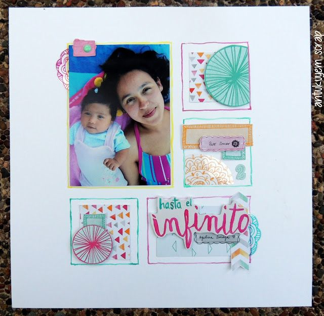Layout scrapbook,  Hand Lettering