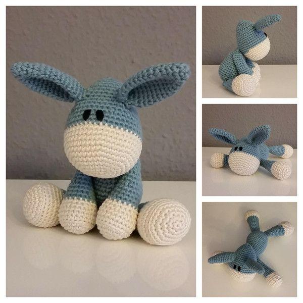 Herr Esel *Blaubeere* / Häkeltier von Lotta-Leben auf DaWanda.com