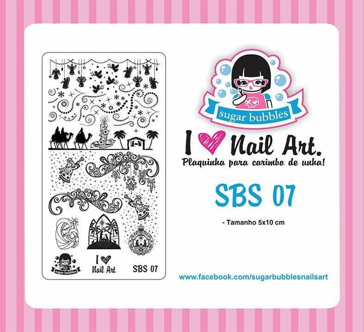 Stamping Plate - Sugar Bubbles - SBS 07