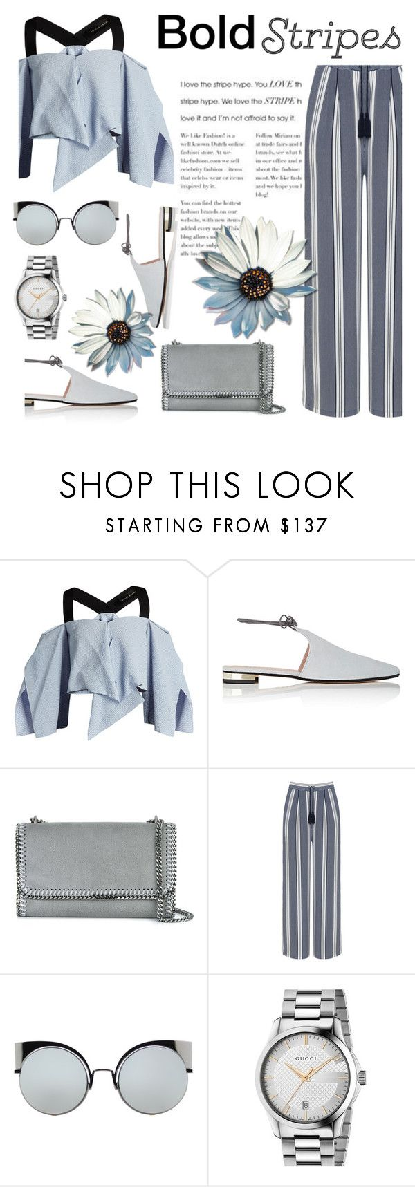"""""""Untitled #776"""" by m-jelic ❤ liked on Polyvore featuring Roland Mouret, Barneys New York, STELLA McCARTNEY, Manon Baptiste, Fendi and Gucci"""