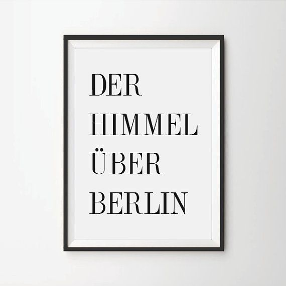 Der Himmel Über Berlin, quote prints, quote posters, cinema posters, typography poster,art quotes, print quotes, Win Wenders