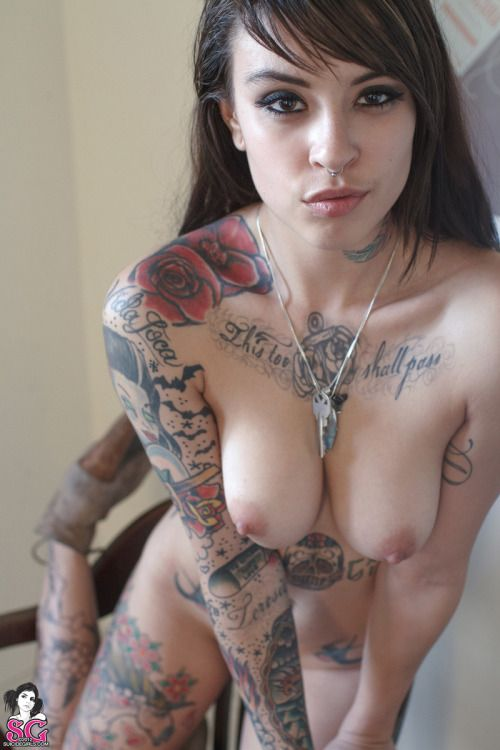 nude tattooed young girl