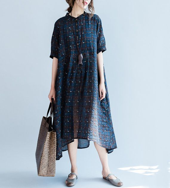 women loose skirts/women comfortable dress/women cotton&linen