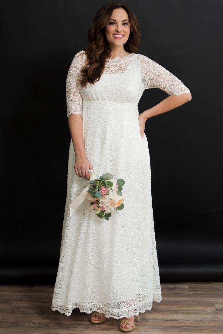 Informal wedding dresses for older brides plus size, Plus ...