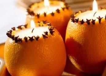 DIY  bougie orange clou de girofle