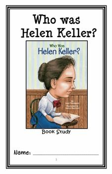 Who was Helen Keller? (Gare Thompson) Book Study / Reading Comprehension Unit * Follows Common Core Standards *  This 31-page booklet-style Book Study / Reading Comprehension is designed to follow students throughout the entire book.  The questions are based on reading comprehension, strategies and skills. This book study is designed to be enjoyable and keep the students engaged.