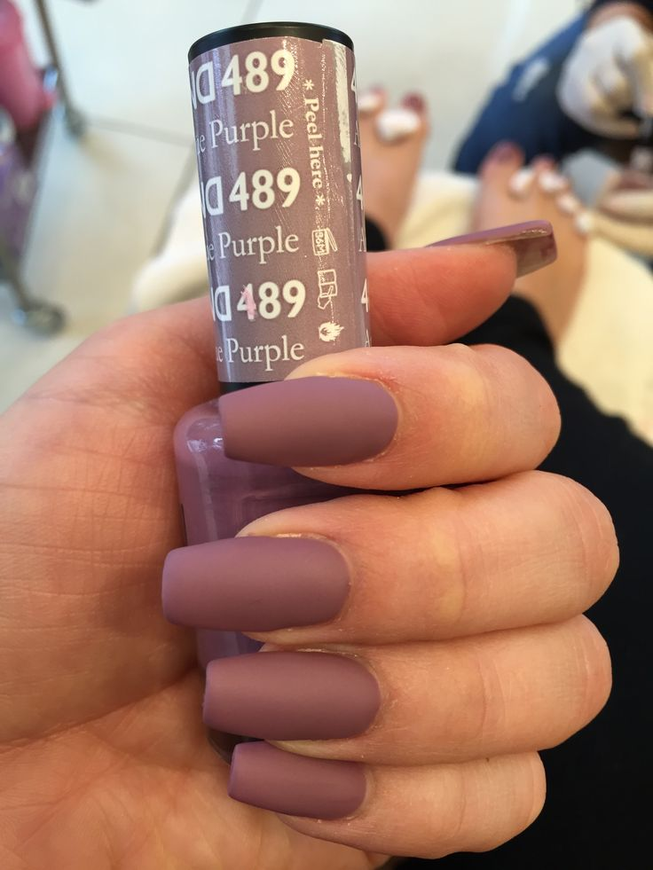 Antique purple matte gel polish