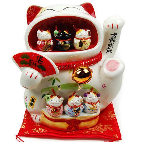 Crystal Ceramic Maneki Neko Lucky Cat Fortune Cat from Shenzhen ...