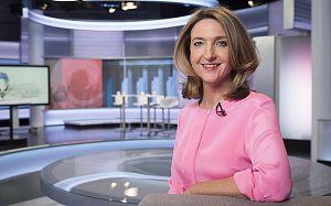 Victoria Derbyshire on the set of her BBC Two show, 'Victoria Derbyshire'