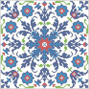 Iznik tile | Chart for cross stitch.