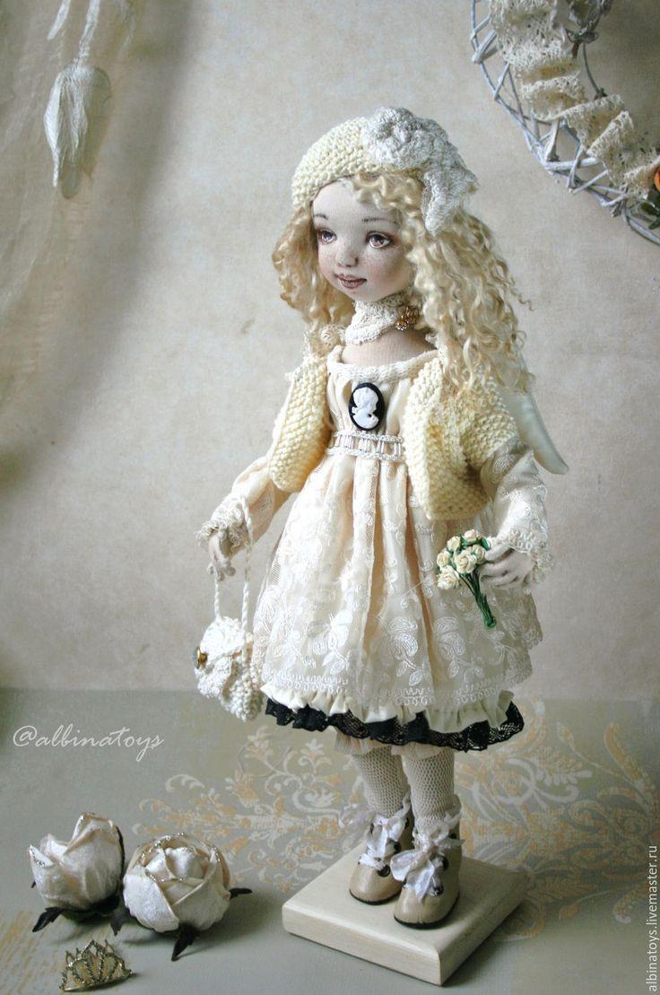 Купить Ангелы.Текстильная коллекционная кукла ангел Софья. Бохо стиль. - кукла