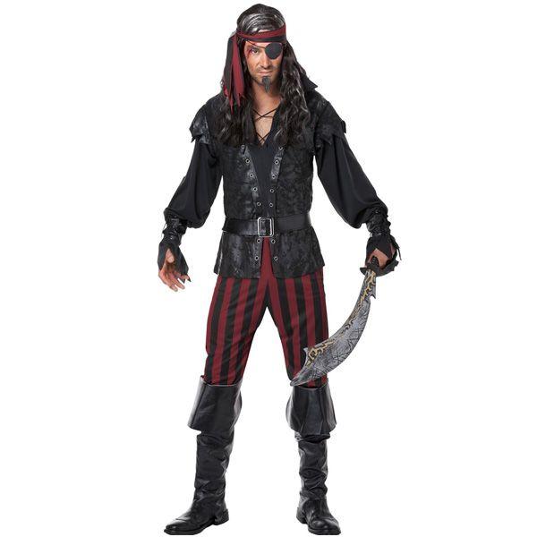 海賊パイレーツ非情な悪党大人用男性用コスチュームハロウィンコスプレコスチューム・衣装