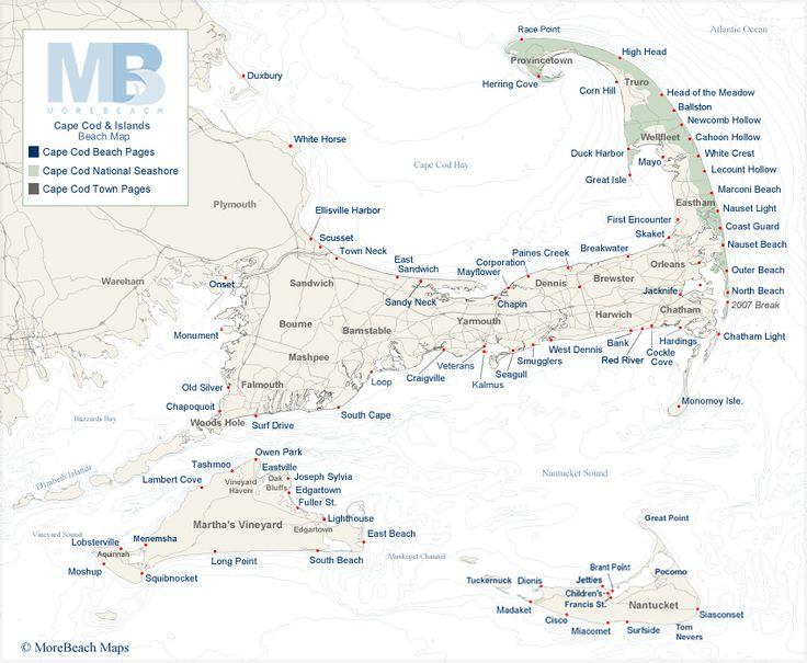 Cape Cod beach maps  Favorite Places  Spaces  Pinterest