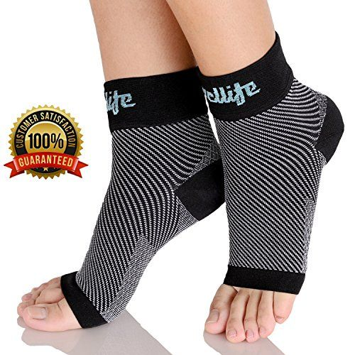 Relieves Plantar Fasciitis-Our compression foot sleeves are an ultimate pain reliever to plantar fasciitis. The unique T-Brace Foot Map Ribbing technology make them effective. They are capable of providing a complete graduated compression from the ball of the foot up to ankle. It fits tightly on the affected parts. They exert maximum pressure on arches, and this helps to relieve the pain on the ligament. It also improves blood circulation hence cooling down inflammation sensation. Perfect…