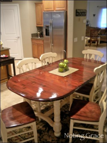 Kitchen table redo.  This might be one of my summer projects...