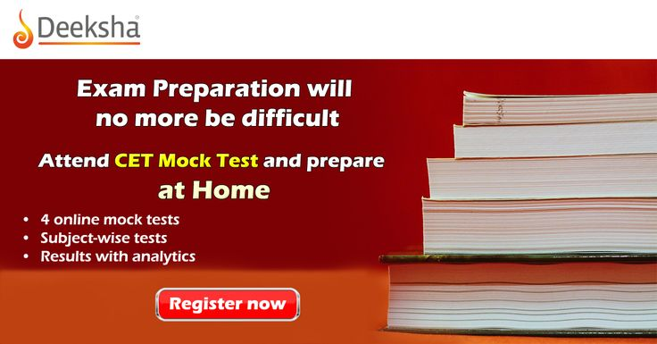 Practise free online #MockTests to crack #CET easily For Registration: http://ace.deekshalearning.com/cet-mock-test?utm_source=Social%20Media&utm_Campaign=CET-Mock-Test&utm_medium=Pinterest