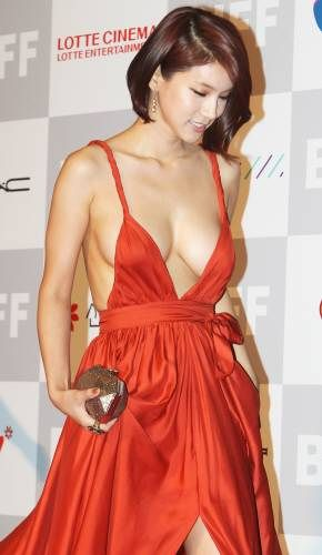 Oh In Hye 오인혜 Sexy Red Dress Images | Hot Sexy Beauty.Club