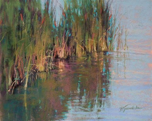"""Cattails"" - Original Fine Art for Sale - © Barbara Jaenicke"