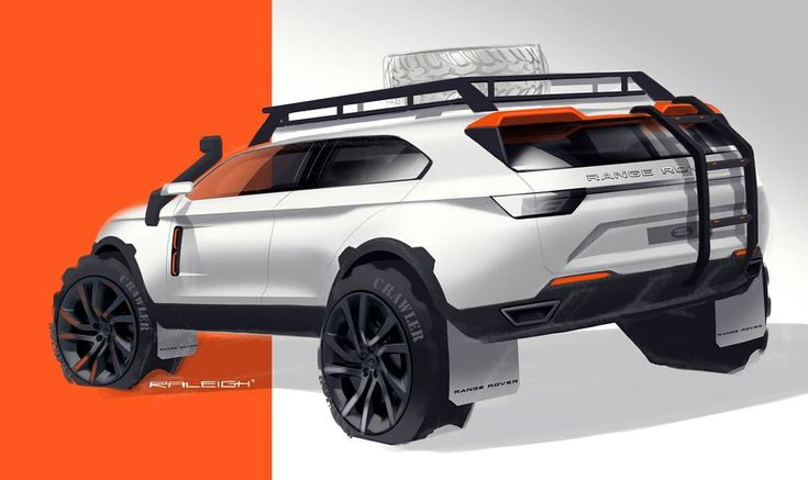 """Needs to get a little mud on the tires..... #landrover #rangerover #offroad #overland #mudding #white #exploring #orange #sketch #design #stance #suv…"""