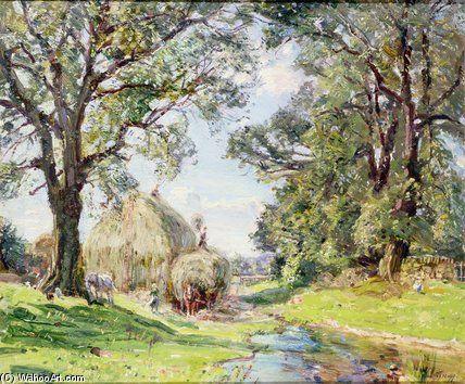 Surrey Paysage de Edmund George Warren (1834-1909, United Kingdom)