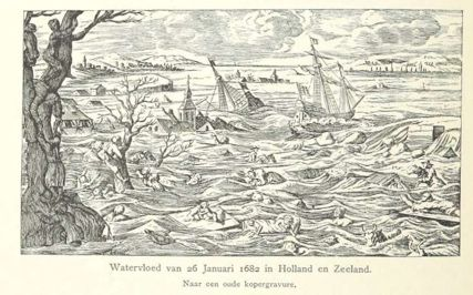 Flood water in Holland and Zeeland (1682).