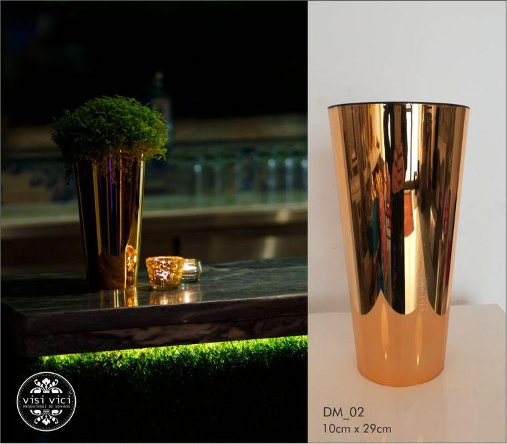 Cachepot Dourado  ref: DM_02  #aluguerdematerial #tabledecor #visivici #lisboa