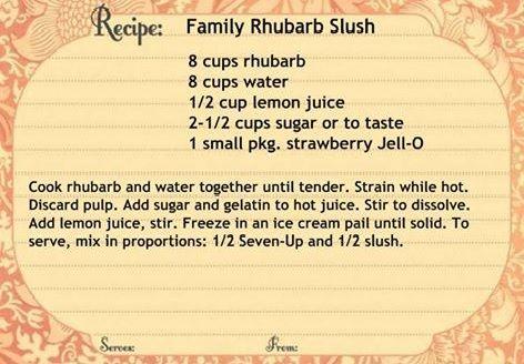 take on rhubarb this rhubarb strawberry slush strawberry rhubarb slush ...