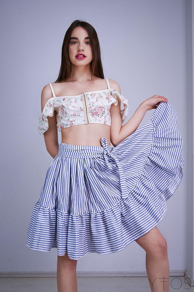 Dent'elle : Kaui Striped Skirt