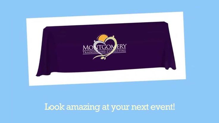 Trade Show Table Covers Printed with Your Logo