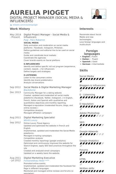 social media manager cv template - Helomdigitalsite - social media specialist resume sample