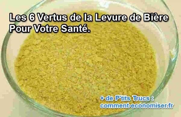 Un peu comme les vitamines, la levure de bière peut aider à améliorer la santé et quelques soucis de peau et de beauté. Voici ses 6 vertus principales :-)  Découvrez l'astuce ici : http://www.comment-economiser.fr/levure-biere-sante.html?utm_content=bufferd97e4&utm_medium=social&utm_source=pinterest.com&utm_campaign=buffer