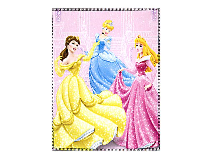 Fleece Decke Disneys Tanzende Prinzessinnen 120x150 cm