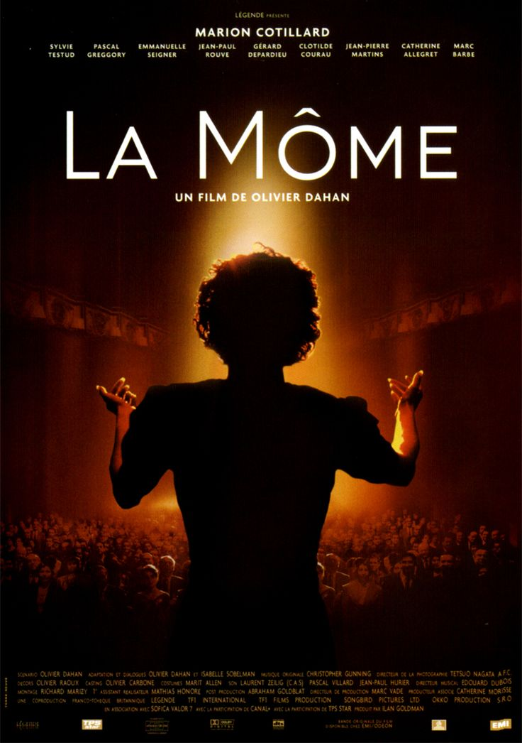 """La Môme  (Academy Award for """"Best Actress"""" Marion Cotillard) French biographical film about the life of singer Edith Piaf, 2007"""